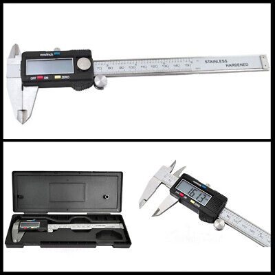 """6"""" 150mm Stainless Steel Electronic Digital LCD Vernier Caliper Micrometer Guage"""