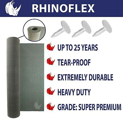 RHINOFLEX Super Premium Green Mineral bitumen roof felt for Shed, Hutches,Kennel