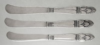 Sterling Whiting PRINCESS INGRID butter spreaders (Ca.1930) Set of 3