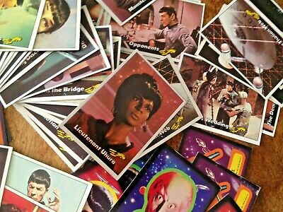 1976 TOPPS - Star Trek - Trading Cards - (87 pieces CARDS & STICKERS) - Vintage