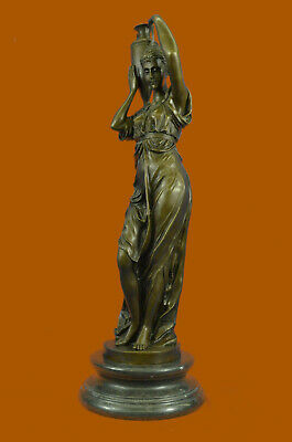 Handcrafted Detailed Museum Quality Maiden Classic Artwork 100% Solid Bronze Scu
