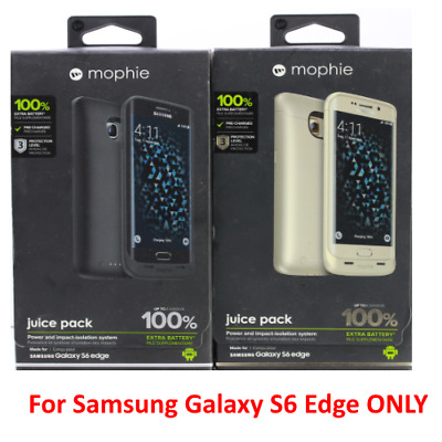 Authentic Mophie Juice pack Battery Case For Samsung Galaxy S6 Edge (3,300mAh)