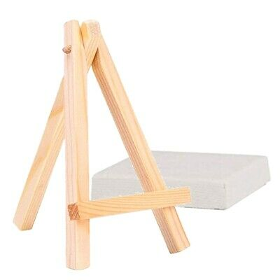 10 Pcs Mini Canvas And Easel Painting Drawing Easel Gift Supplies Set Craft Z