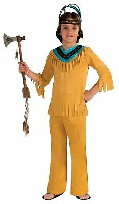 Native American Warrior Brave Indian CHILD BOYS Costume Size L Large 12-14 NEW