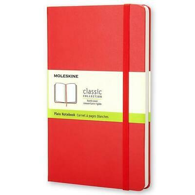 Moleskine classic, Large Size, Plain Notebook, red