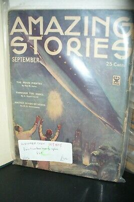 Amazing Stories Us Pulp Magazine September 1934