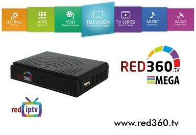 RED 360 MEGA IPTV Box with WLAN and 12 months Premium Over