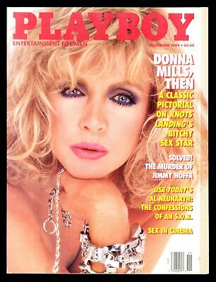 PLAYBOY NOVEMBER 1989 BITCHY DONNA MILLS NUDE PICTORIAL
