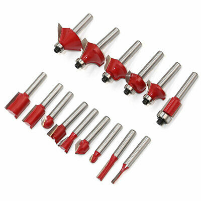 15pcs wood milling cutter 8mm shank router bit set cnc milling cutter