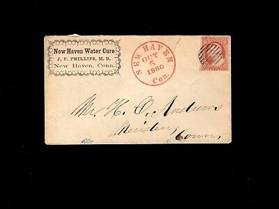USA Quack Medicine New Haven Water Cure Dr. Phillips 3c Late Usage Cover 10i