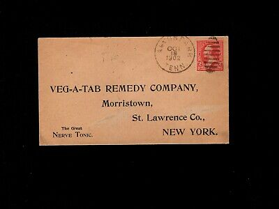 USA Quack Medicine Veg-A-Tab Remedy Preprint Nerve Tonic Alton Park TN Cover 10i