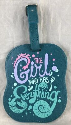 Disney Parks Girl Who Has Everything Ariel Mermaid Travel Luggage Tag Suitcase