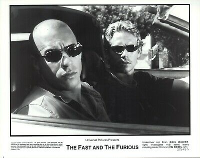 The Fast and the Furious (2001)  8x10 black & white photo #7r