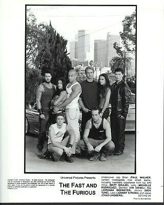 The Fast and the Furious (2001)  8x10 black & white photo #24
