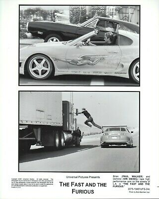 The Fast and the Furious (2001)  8x10 black & white photo #24c