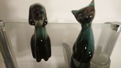 Blue Mountain Pottery pair of Mini's Cat and Dog!