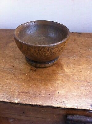 LOVELY LARGE DECORATIVE 19th CENTURY WOODEN SALT 4.4 inches
