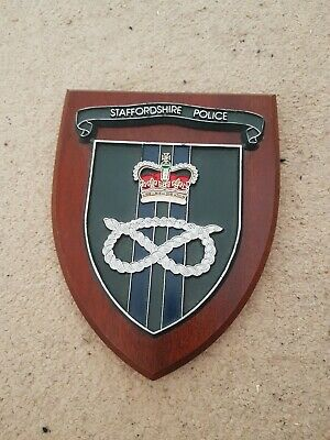 STAFFORDSHIRE POLICE Wall Plaque Shield