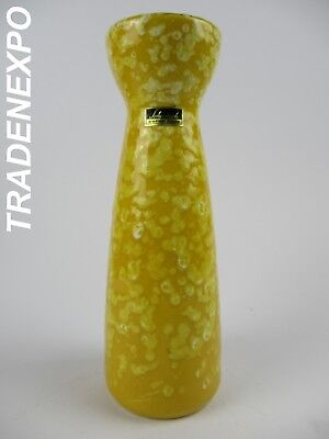 70's Vintage SCHEURICH KERAMIK Yellow 520/22 Vase West German Pottery Fat Lava