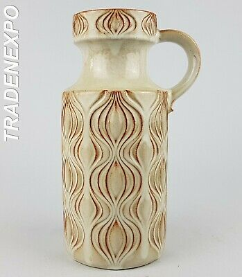 1970s Vintage SCHEURICH KERAMIK Onion 486-26 Vase West German Pottery Fat Lava