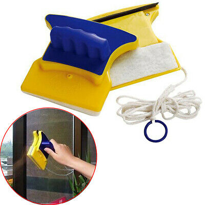1X Magnetic Window Double Side Glass Wiper Cleaner Cleaning Brush Pad