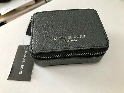Michael Kors Sm Travel Leather Pill Vitamin Case Pill box Pill Organizer Grey
