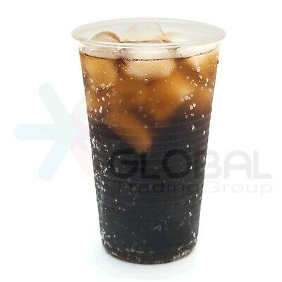 100 x Disposable Plastic Drinking Cup Glasses 200ml Party Wedding Event Clear AU