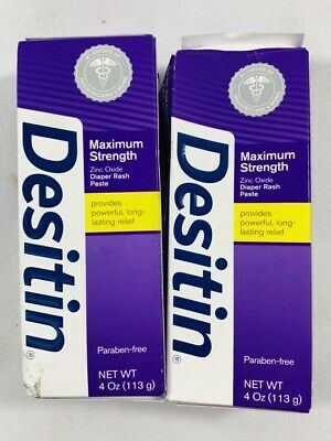 2 - Desitin Maximum Strength Baby Diaper Rash Cream with 40% Zinc Oxide 4 oz