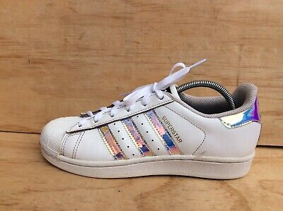 ADIDAS SUPERSTAR HOLOGRAPHIC Trainers Shoes Size 6 EUR 33