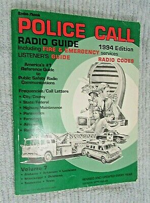 RADIO SHACK POLICE Call Radio Frequency Scanner Books 94 Vol