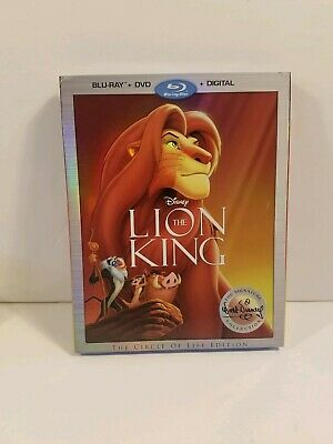 Lion King Signature Collection Blu-Ray + DVD + Digital Disney NEW w/ SLIPCOVER