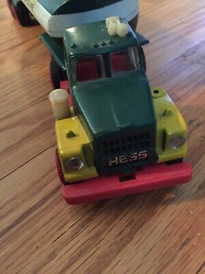 VINTAGE 1968 HESS TANKER TRUCK And TRAILER---LIGHTLY USED AND DISPLAYED DECADES