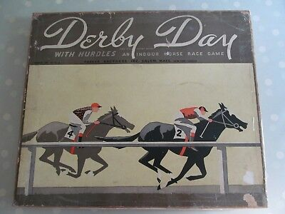 Derby Day Vintage Board Game By Parker Brothers Indoor Horse Racing Game