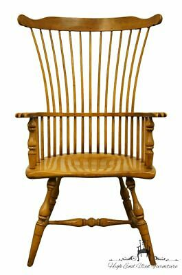 DREXEL HERITAGE Solid Maple Windsor Style High Back Accent Arm Chair 363-732