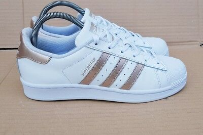 57a8c47700 Gorgeous Adidas Superstar White & Rose Gold Trainers Size 7 Uk Worn Twice