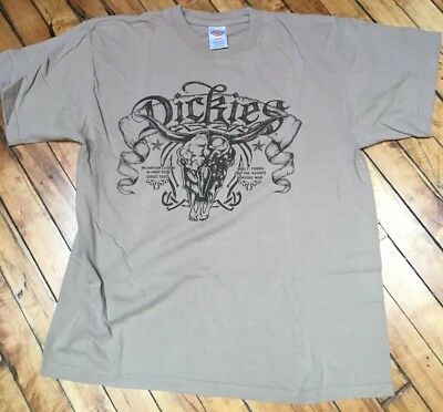 Dickies T shirt Men's Brown Size L Cotton Short Sleeve Graphic