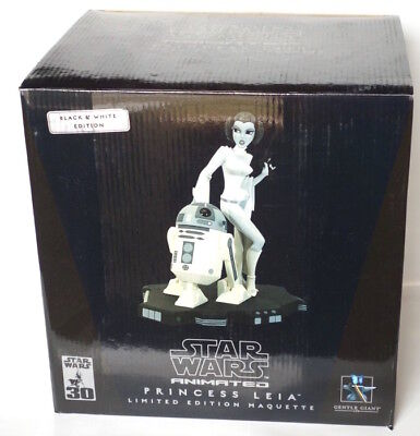 Star Wars Gentle Giant 2006 BLACK WHITE Princess Leia R2-D2 Animated Maquette