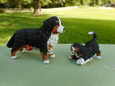BURNESE MOUNTAIN DOG & PUP by Schleich/ dog/toy/16397/16398