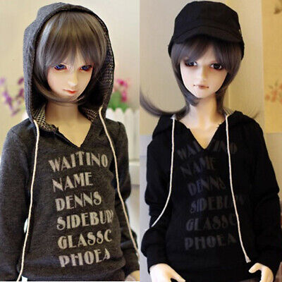 [PF] Grey Black Hoodie For 1/3 1/4 SD17 DZ70 Boy Male BJD Doll Dollfie Outfit
