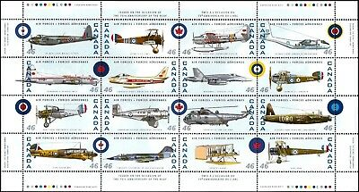 Canada Stamp #1808 - Canadian Air Forces 1924-1999 (1999) 16 x 46¢ Full Pane NMH