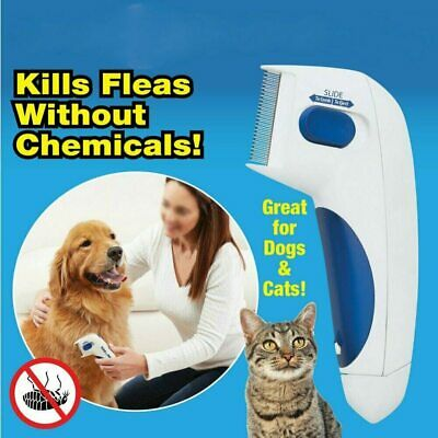 Flea Doctor Electric Flea Comb Dogs Cats Pet Brush Lice Cleaner Tick Remover USA