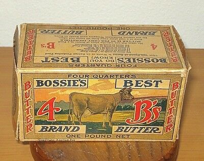 CLARKS Creamery Blue River PAIR Old Vintage 1920/'s BLUE RIVER BUTTER BOX WI