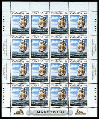 Canada Stamp #1779 - The Marco Polo under full sail (1999) 46¢ MNH Full Pane