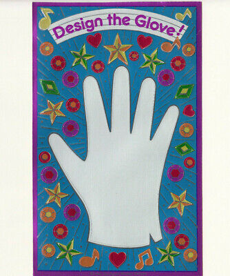 Rare Vintage 80's Sandylion Foil Design the Glove Metallic Maxi Sticker Sheet