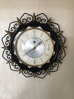 Clock:Lovely Vintage c1940/50's Smiths 8 Day Wind Up Clock, Working!, Plus Key