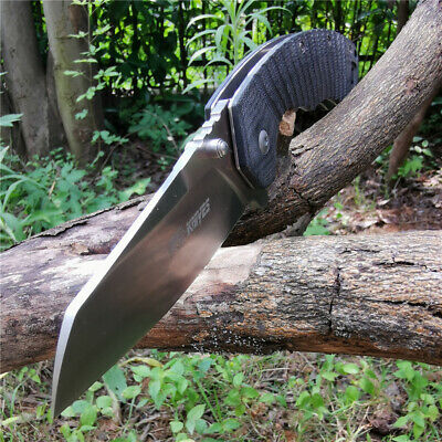 TSR601A Folding Knife Tactical Survival Hunting Camping Tool Knives 5Cr13 Blade