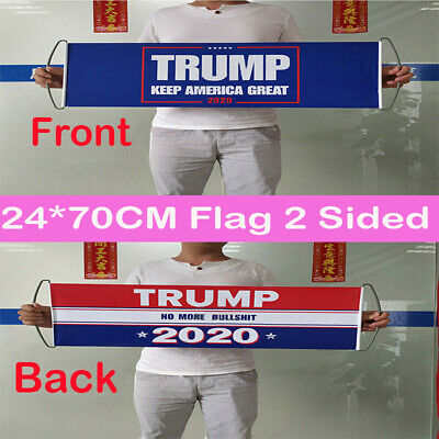 Donald Trump 2020 Double Sided Printed Flag Keep America Great / No More BS Bu