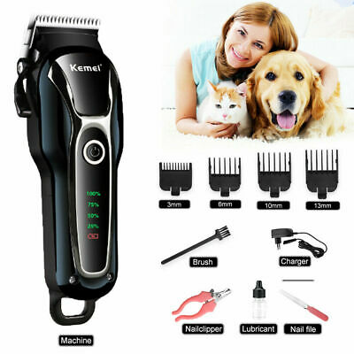 Professional Dog Grooming Kit Pet Cat Fur Hair Cordless Clipper Trimmer Shaver