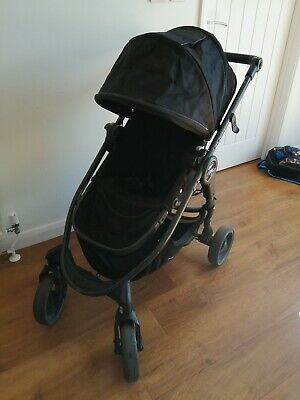 Baby Jogger City Versa In Black With Rain Cover & Strap Pads