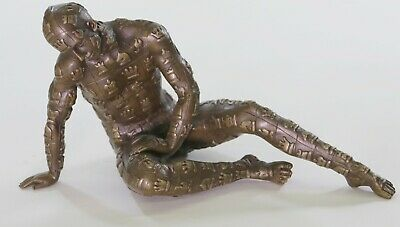 Dali Male with Chess Design Outfit 100% Solid Bronze Statue Sculpture Figurine